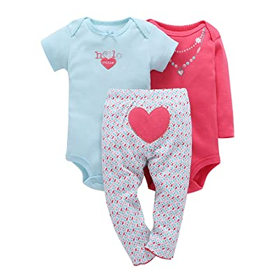 Baby Layette Clothes Set Cute Fox (Long Sleeve Short Sleeve Pants) Roupa Infantil Baby Clothing