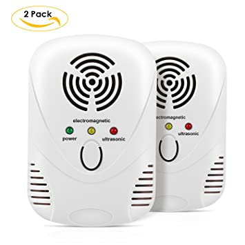 MVPOWER Repelente Ultrasónico de Insectos y Plagas Controlador Electrónico de Ultrasonido para Alejar Plagas Protección Interior