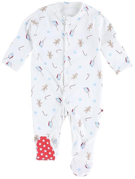 Piccalilly, Mameluco con pies, Jersey de algodón, Unisex, bebé, Pan de