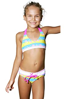 For Young little girls in bikinis