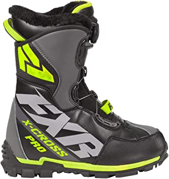 FXR X Cross Black // White Boots: Unisex Mens Womens 7 9