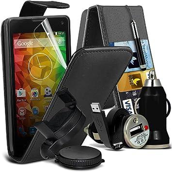 Fone-Case (Black)  MEDION LIFE E4503 Smartphone caso cubierta trasera funda Carcasa Case (6)  Alta calidad Pack de accesorios para tu coche: Amazon.es: Electrónica