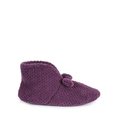 Isotoner - Zapatillas de estar por casa para mujer morado morado Talla única , color morado, talla 40: Isotoner: Amazon.es: Zapatos y complementos