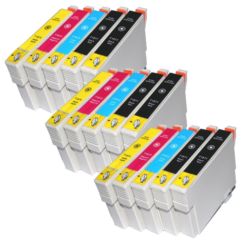 15 T1811 - T1814 COMPATIBLES de tinta de repuesto para Epson ...