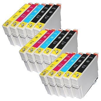 15 T1811 - T1814 COMPATIBLES de tinta de repuesto para Epson XP ...
