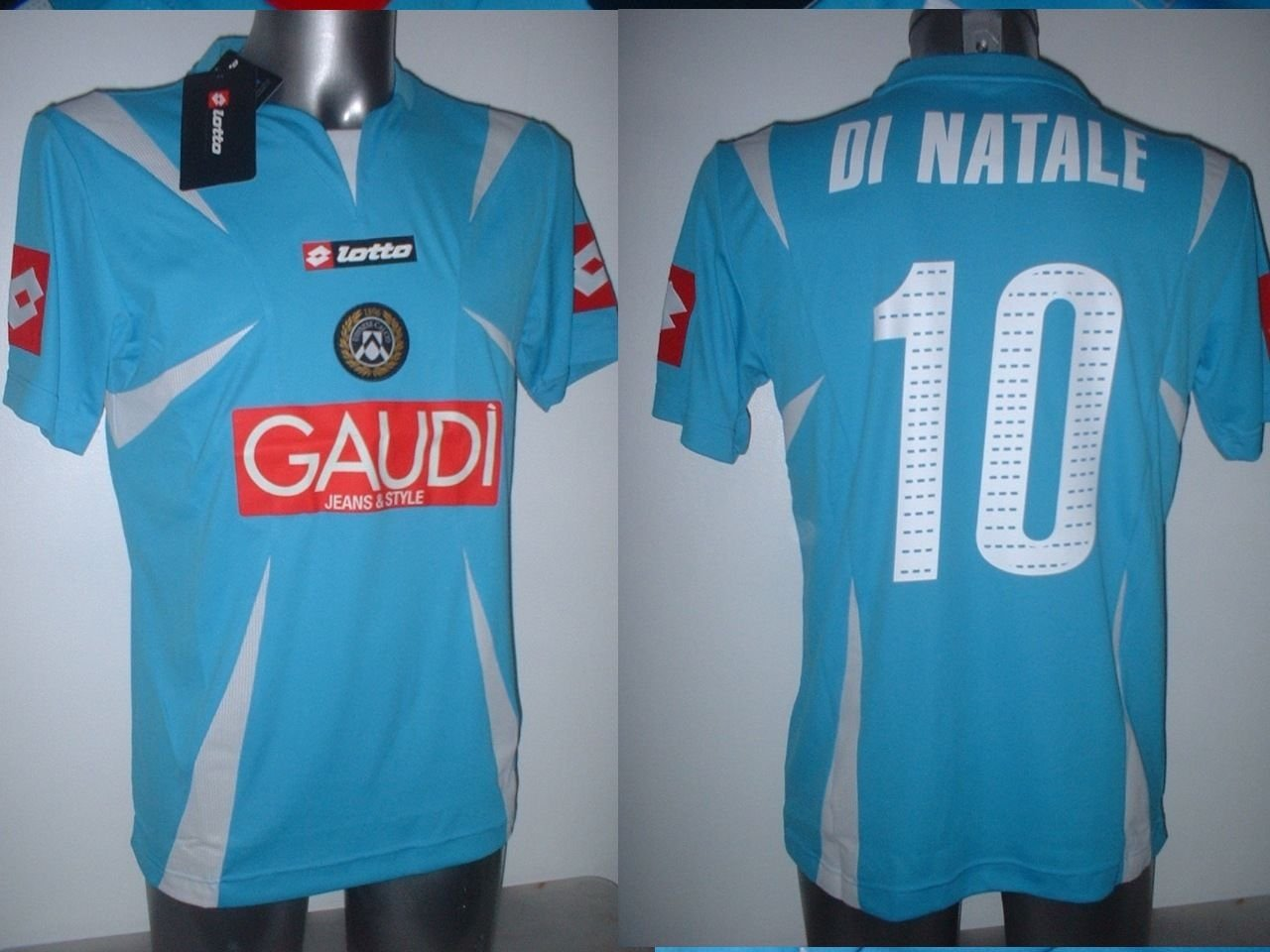 UDI Nese BNWT adulti grande di Natale Lotto Shirt Jersey Calcio Pullover Maglia Top Italia Italia