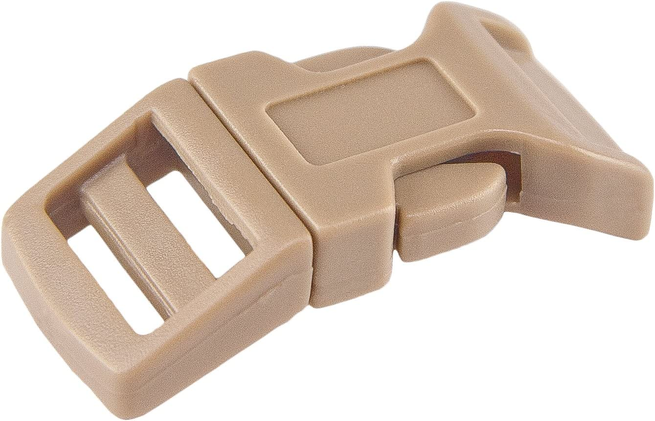 50-3//4 Inch White Titan Side Release Plastic Buckles