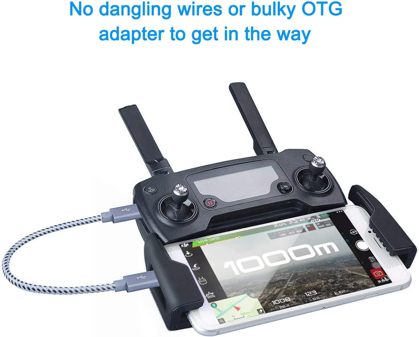 PRO OTG Cable Works for Rio Mini USB Right Angle Cable Connects You to Any Compatible USB Device with MicroUSB