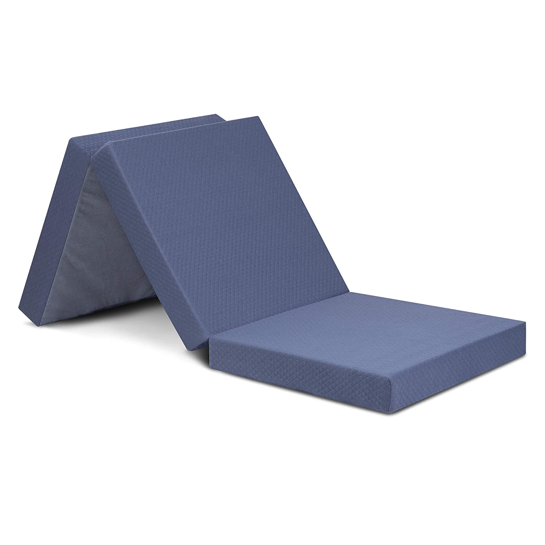 Grey Olee Sleep  Topper Tri-Folding Memory Foam 4 Inch