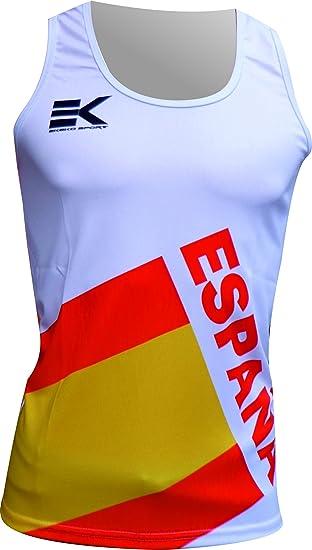 CAMISETA TIRANTES EKEKO ESPAÑA FLAG, UNISEX, running y deportes en general (XS): Amazon.es: Deportes y aire libre