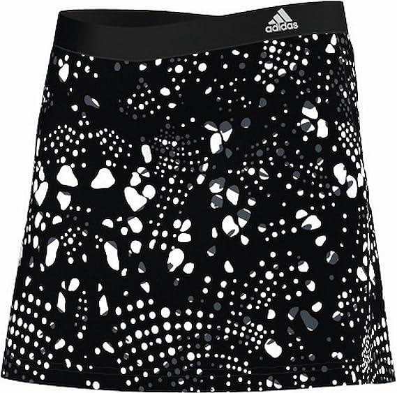adidas Response Printed Falda de Tenis para niña Negro Blanco ...