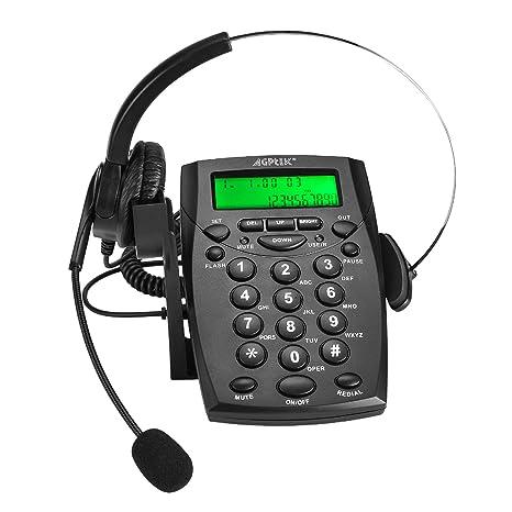 AGPtek - Business/Centro de llamadas Teclado Auricular Teléfono con tono Dial Key Pad &