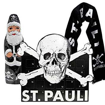 Prächtig FC St. Pauli 3-teiliges Advents-Set mit Schal (Adventskalender + &VA_02