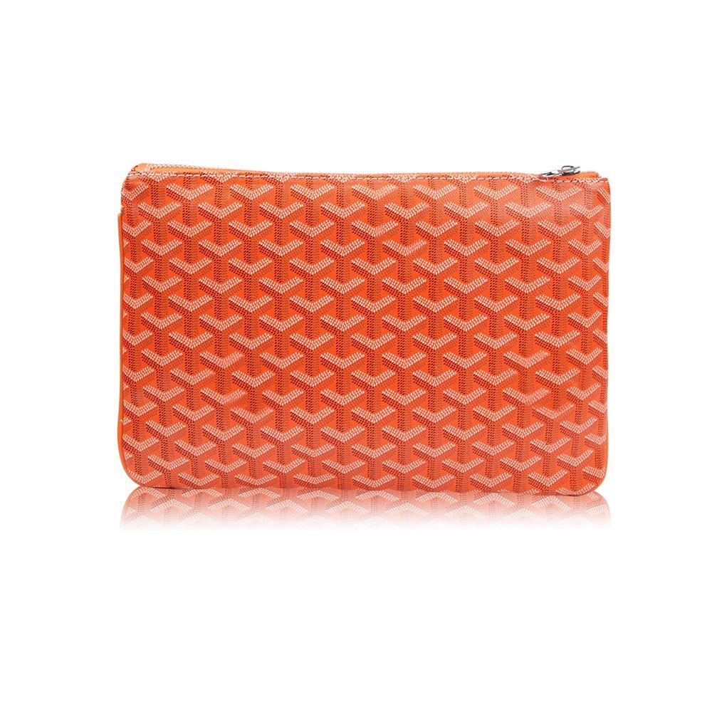 Stylesty Fashion Clutch Bag, Pu Envelope Clutch Purse, Women Handbag (Medium, Orange)