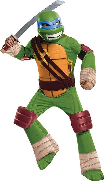 Rubies Costume Co Teenage Mutant Ninja Turtles Leonardo Tv Garcon Costume White Size Medium Amazon Ca Vetements Et Accessoires