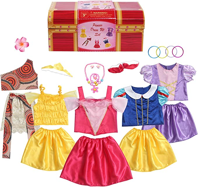 BIBIHOU Dress up Costume for Little Girls Brithday Party Clothes Halloween Cosplay Princess Robe