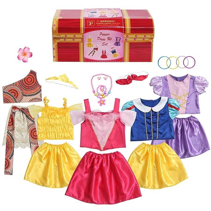 Amazon.com: BiBibiblack - Disfraz de princesa para niñas de ...