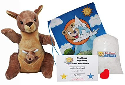 "ef7ba4ce2153 Make Your Own Stuffed Animal ""Jill & Joey Kangaroo's"" with Finger  Puppet-"