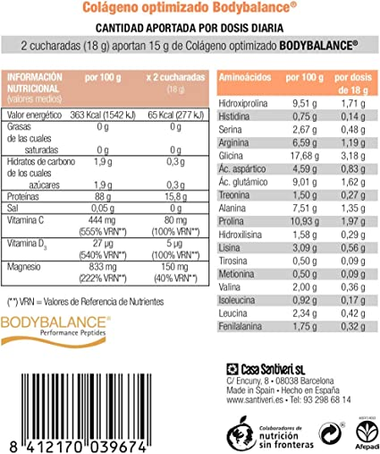 Colágeno Dynamic Fit optimizado en polvo de Santiveri (275 gr ...