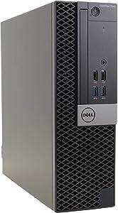 Dell Optiplex 7040-SFF, Core i7-6700 3.4GHz, 8GB RAM, 256GB Solid State Drive, DVD, Windows 10 Pro 64bit (Renewed)