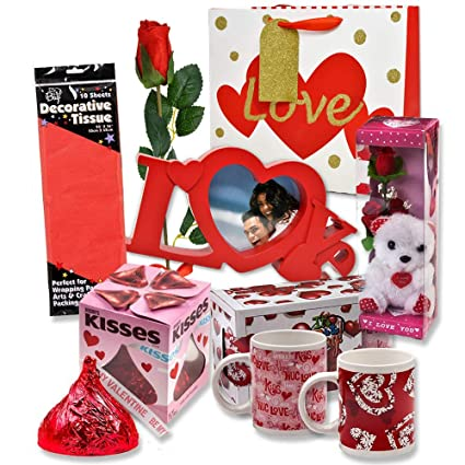Amazon Com Valentine Gift Set Complete With Gift Bag Tissue Paper