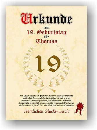 19 Geburtstag 19 Jahre Spruch Geburtstagsgeschenk Schurze