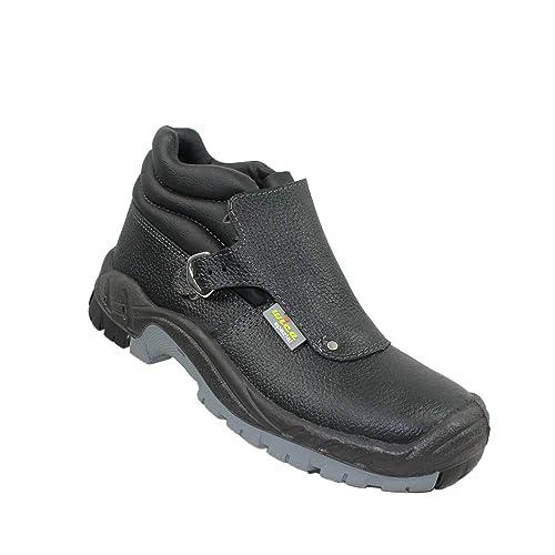 Zapatos de Seguridad wica Herne S3 HRO SRC Trabajan los Zapatos de los Zapatos de Soldadura Profesionales instaladores de techos Altos Zapatos Negro, ...