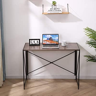 Buy Everflying Upgrade Home Office Desks 39 4 Inches Small Desk For Small Spaces Bedroom Livingroom And Apartment Easy Assembly Walnut Brown Desktop Online In Indonesia B08jpwyhby