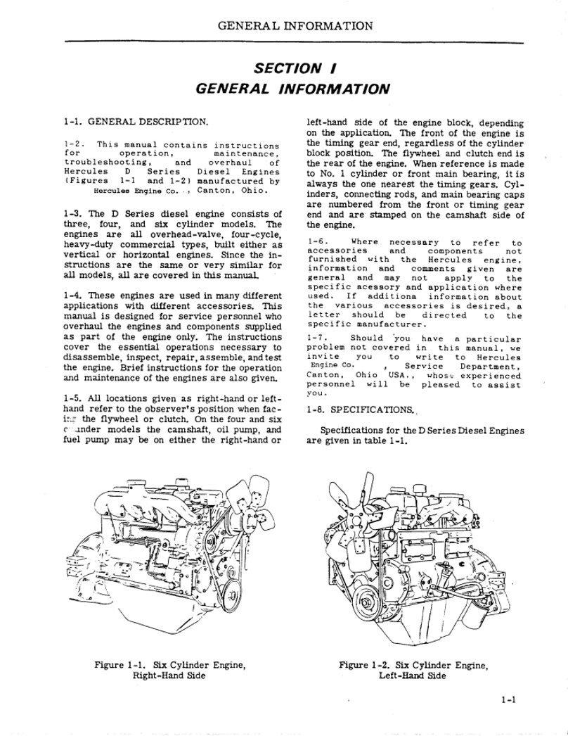 Hercules Engine Maintenance Manual Kitchen Dining General Fuel Pump Diagram