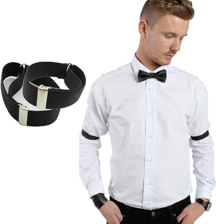 Adjustable 2pcs Lady Men Blouse Sleeve Holders Garter Elastic Arm Band 13 Colors