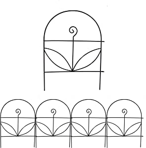 YOUKOOD Decorative Garden Fence 18 in x 13 in,Garden Fencing Garden Border Edging Fence,Decorative Flower Fence,Animal Barrier for Outdoor Garden Fence,Pack of 4