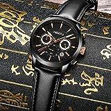 Watches,Mens Military Quartz Analog Leather Watch Waterproof Sport Clock Luxury Brand Wrist Watch Black