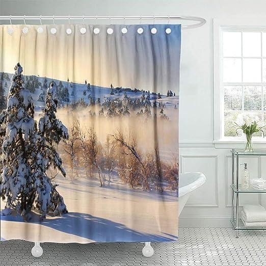 Waterproof Fabric Welcome Nativity Jesus Bathroom Set Shower Curtain Liner Hooks