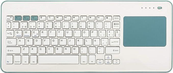 Silver HT - Teclado Inalámbrico con Touchpad para Smart TV, Smartphones, Tablets, iPhone, iPad y Videoconsolas - Blue: Silver-Ht: Amazon.es: Informática