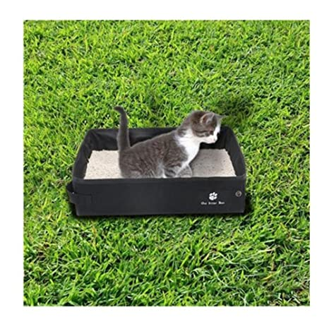 Kbsin212 - Arenero portátil para Gatos, Bandeja Plegable para Gatos, Caja Impermeable para Gatos