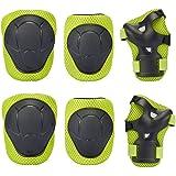 G-i-Mall Protezioni per bambini - Set di protezioni ginocchiere microabrasivi figlio di Ellen di protezioni per mano snodo schoner per pattinaggio ciclismo Skateboard Roller - Verde