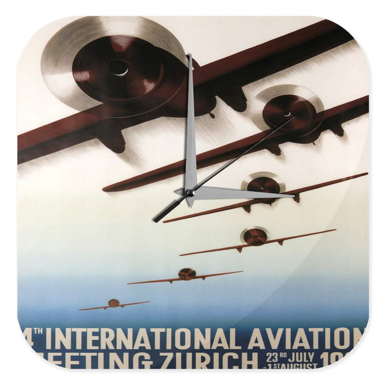 Reloj Pared Viajes Aeropuerto Decorativo Show Zúrich ...