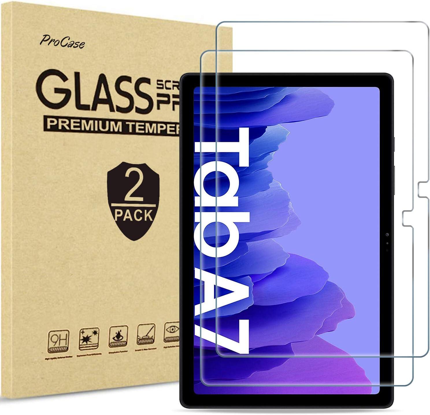"ProCase 2 Pcs, Protector de Pantalla para Galaxy Tab A7 10.4"" 2020 Model SM-T500 T505 T507, Screen Protector Vidrio Templado Anti-Huellas, Película Protectora para 10.4 Pulgadas Galaxy Tab A7"