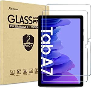 [2 Pack] ProCase Galaxy Tab A7 10.4 2020 Screen Protector T500 T505 T507, Tempered Glass Screen Film Guard for 10.4 Inch Galaxy Tab A7 2020 Tablet SM-T500 SM-T505 SM-T507