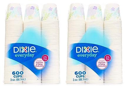 Dixie - Bath Cup, 3 oz  - 600 Cups,Varies Color - 2 Pack