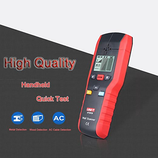 UNI-T UT387B Metal Wood Wall Detector Multifunctional Handheld AC Cable Finder Scanner - - Amazon.com