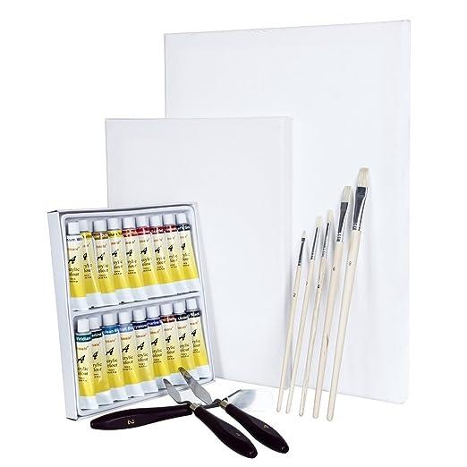 15 opinioni per Artina Set di pittura con colori acrilici Malta: 2 tele 18 colori 5 pennelli 3