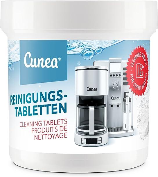 Cunea - Pastillas de limpieza para cafeteras automáticas y cafeteras 50x 2g Tablets.: Amazon.es: Hogar