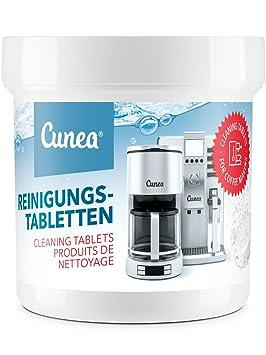 Cunea pastillas de limpieza para cafeteras automáticas y máquinas de café 50 Tablets: Amazon.es: Hogar