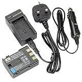 DSTE Rechargeable Li-ion Battery + Charger DC18U for Canon NB-2L, NB-2LH, BP-2L5, BP-2LH, PowerShot G7, G9, S30, S40, S45, S50, S60, S70, S80, DC410, DC420, VIXIA HF R10, HF R100, HF R11, EOS 350D, 400D, Digital Rebel XT, XTi,