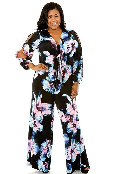 ee683f2f99b Giti Online Plus Size Women Popular Fashion Diva Floral Jumper 1X BLACK