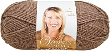 Lion Brand Vanna's Choice Yarn (125) Taupe, Taupe