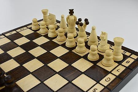 Hecho a mano juego de ajedrez madera 31 x 31 Figuras woodeeworld: Amazon.es: Hogar
