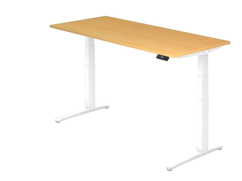 Asiento de pie de escritorio el.180 x 80 cm, haya/Color Blanco ...