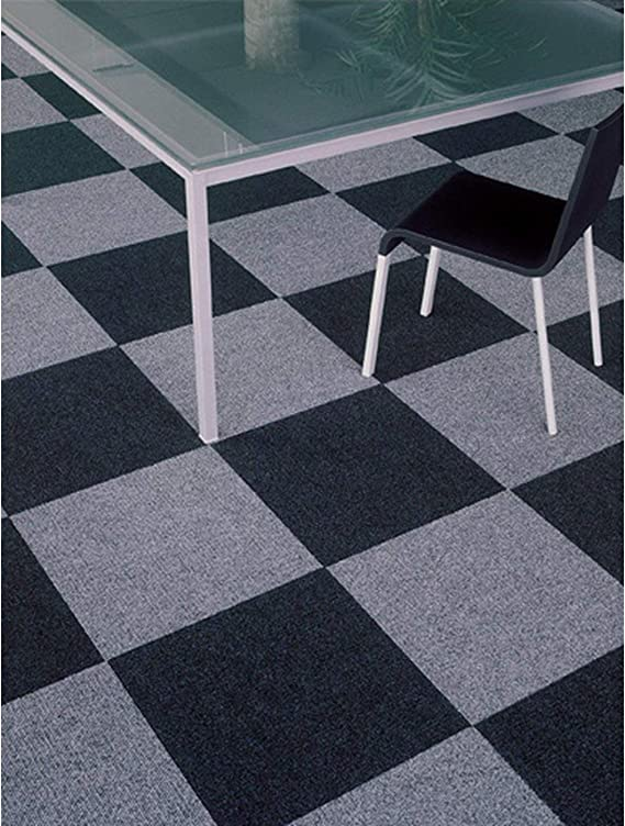 R/ücken: Latex Bodenbelag f/ür B/üro und Gewerbe Antistatisch Teppichfliesen Scene selbstklebend 40x40 cm Grau Viele Farben